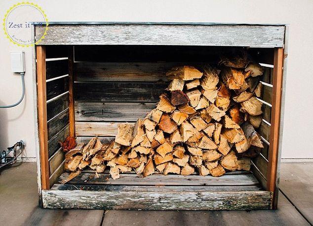 Rustic Firewood Storage Shed #firewoodstorage