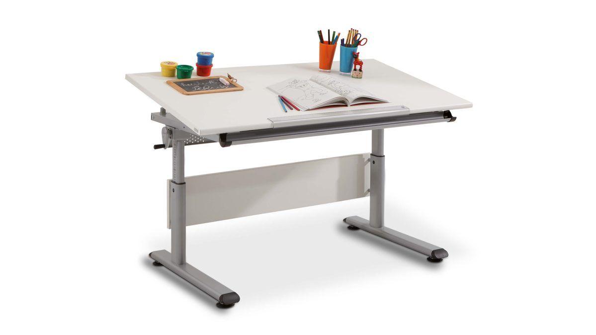 Kinderschreibtisch weiß paidi  Der PAIDI Schreibtisch Marco aus einer Platte in Ecru und einem ...
