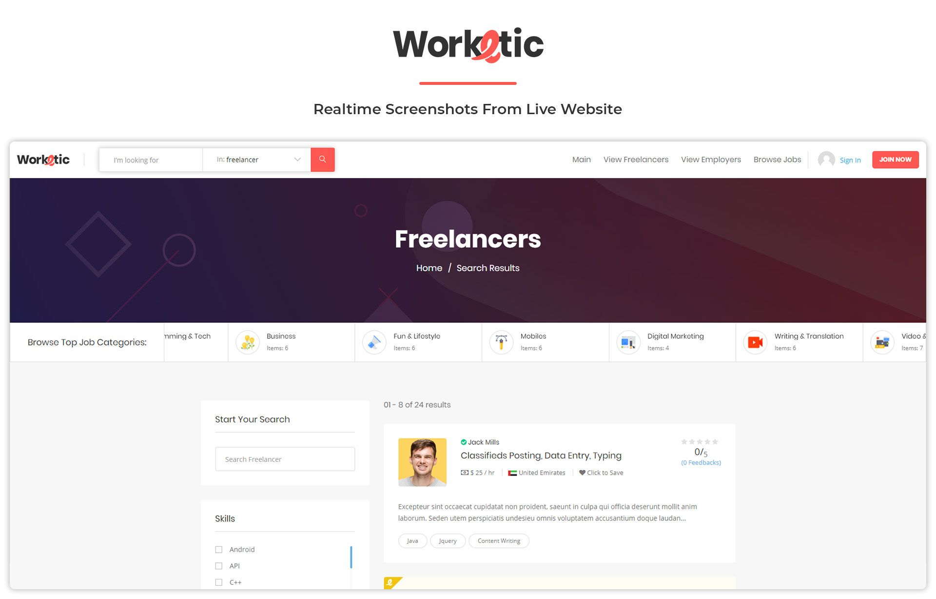 Worketic Market Place For Freelancers By Amentotech Ad Market Sponsored Worketic Freelancers Place Visual Hierarchy Freelance Marketplace Freelance