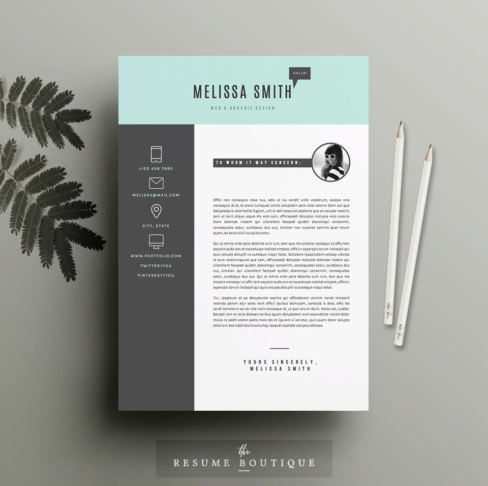 Resume template 4 pages cv template cover by theresumeboutique resume template 4 pages cv template cover by theresumeboutique yelopaper