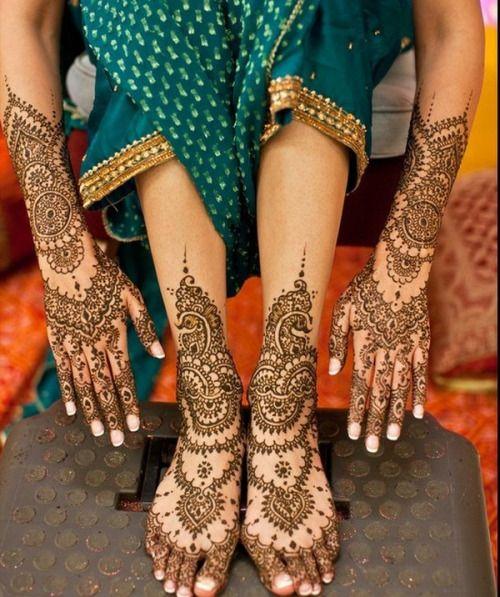 Traditional Henna Body Decoration India Mehendi Drawings Bridal