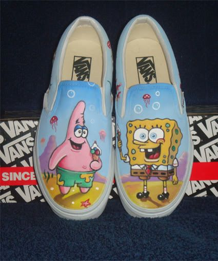 6b15f407965b7 Spongebob <3 | Shoes in 2019 | Cool vans shoes, Custom vans shoes ...