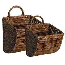 Hanging Wall Basket new primitive country farmhouse set of 2 willow wall basket mail