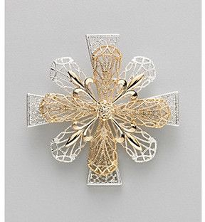 Other Holiday Boxed Two Tone Floral Cross Pin on shopstyle.com