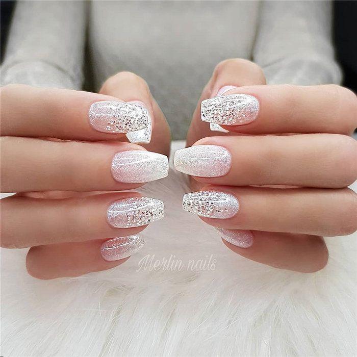 Wedding Natural Gel Nails Design Ideas For Bride 2019 Weddingnails Naturalgelnails Bridenails Gelnails Bride Nails Pink Nail Art Designs Bridal Nails