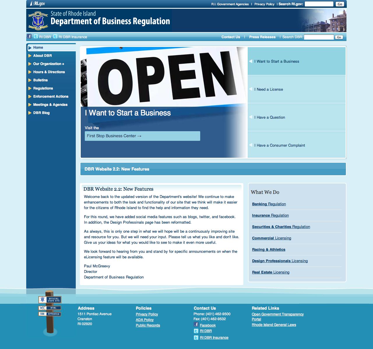 Department Of Business Regulation Www Dbr Ri Gov Business