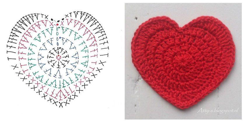 Schema Per Cuore A Uncinetto Cucito Creativo Crochet Freeform