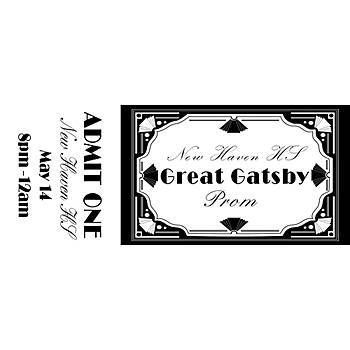Our Great Gatsby Personalized Tickets features a very prominate - prom ticket template