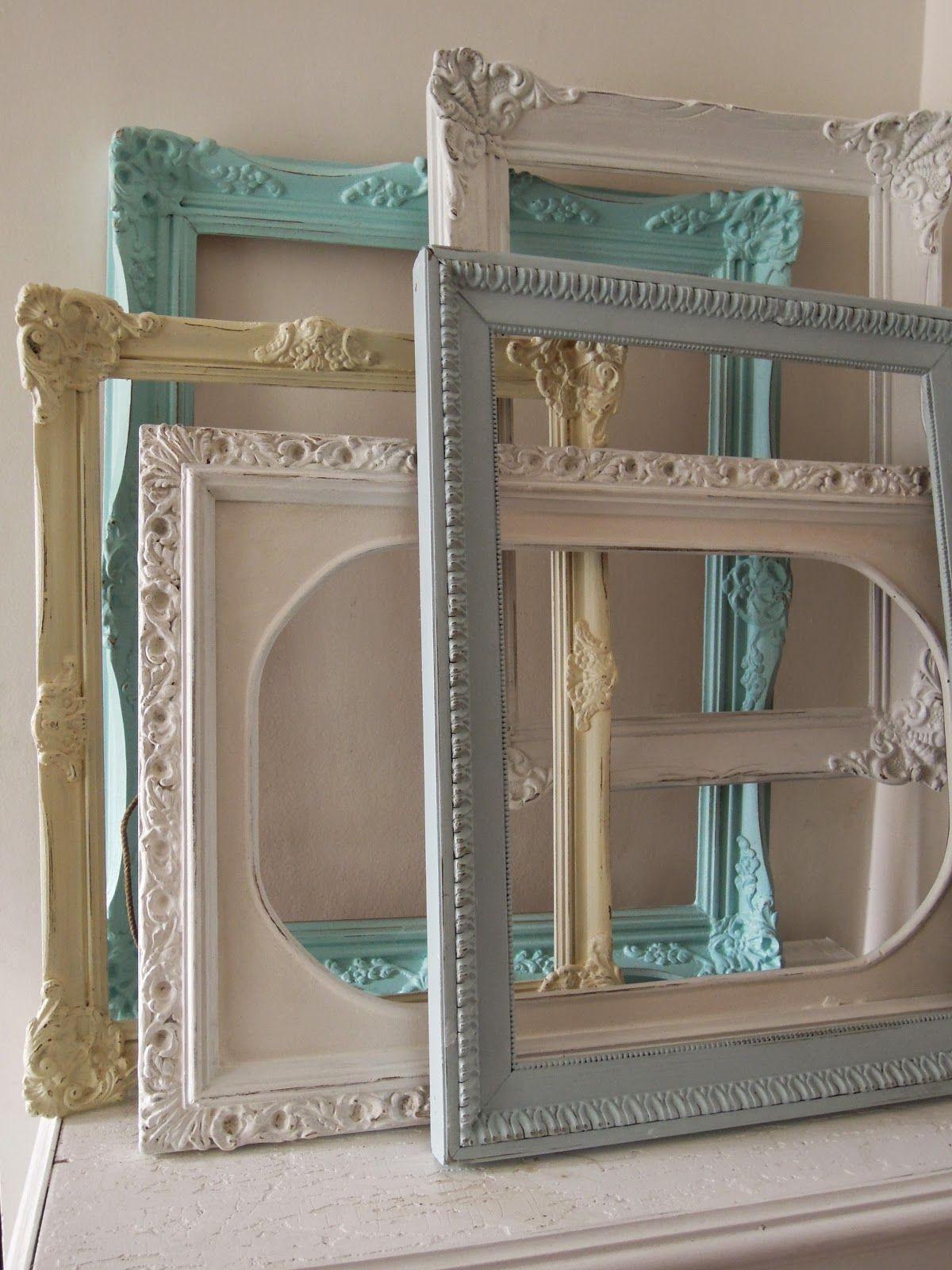 Espejos Bonito Antiguo Marco De Madera Para Foto Vidrio Con Imagen Pintura Pintado