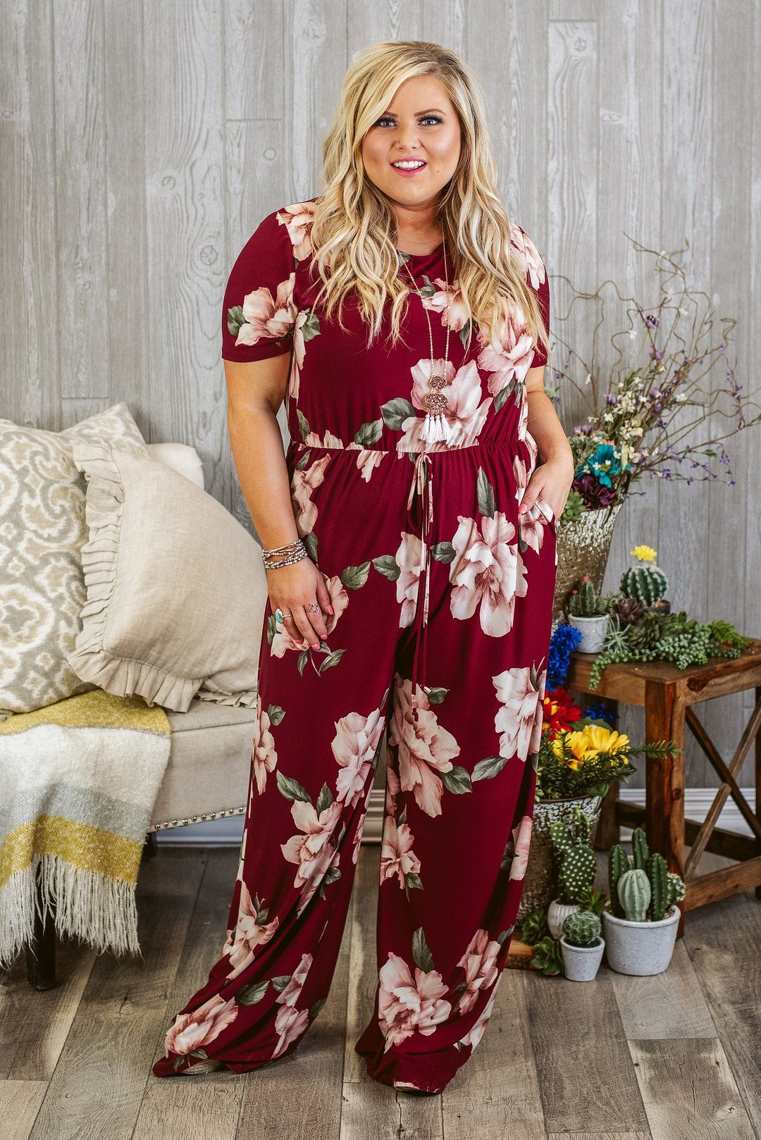 Curvy Nine To Wine Jumpsuit Burgundy Glitzy Girlz Boutique Curvy Rompers Plus Size Summer Fashion Curvy Jumpsuits