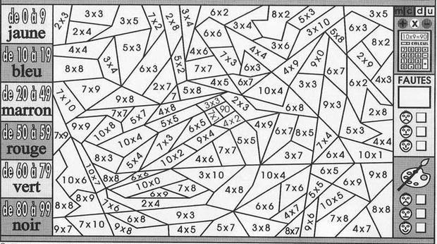 Coloriage Magique Multiplication Et Plage De Résultat