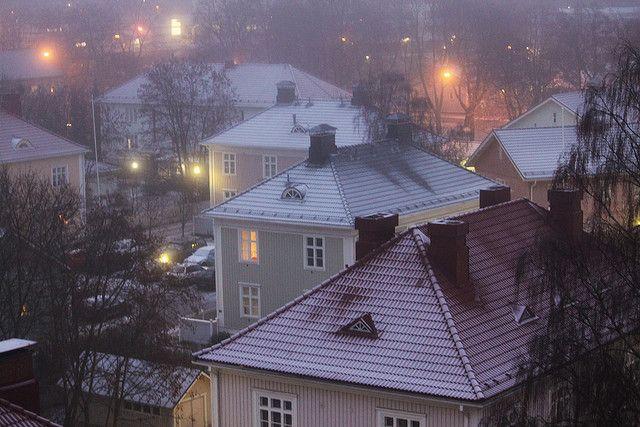 El invierno tiene su ambiente. Tampere, Finlandia.