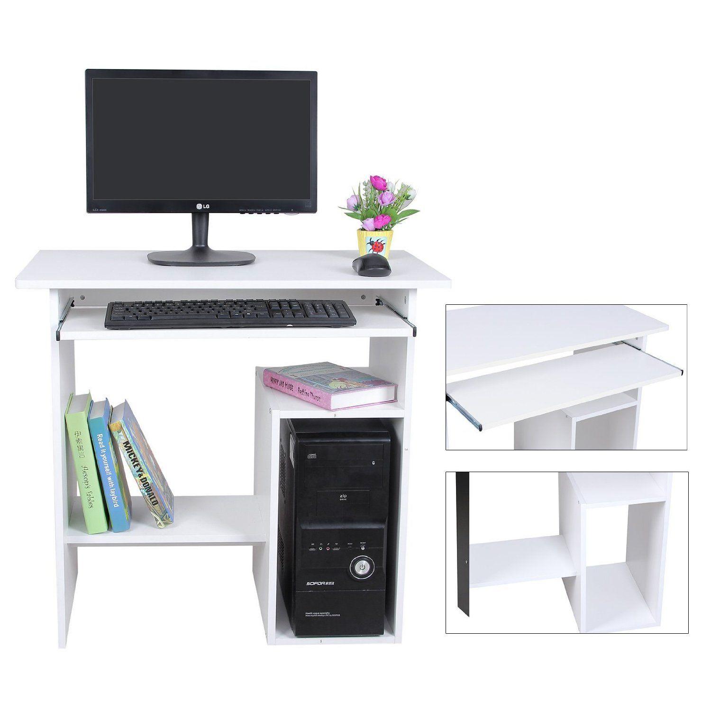 Songmics escritorio de la computadora mesas de ordenador for Mobiliario ergonomico para computadoras