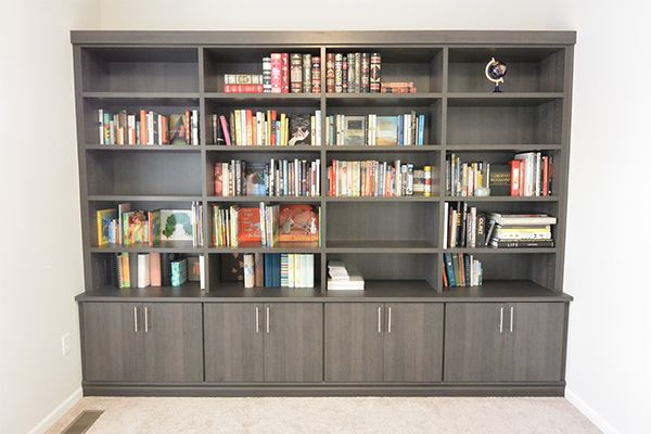Exceptional California Closets U2013 Local Michigan Work, Library In Milano Grey Closet  Library, Office Cabinets