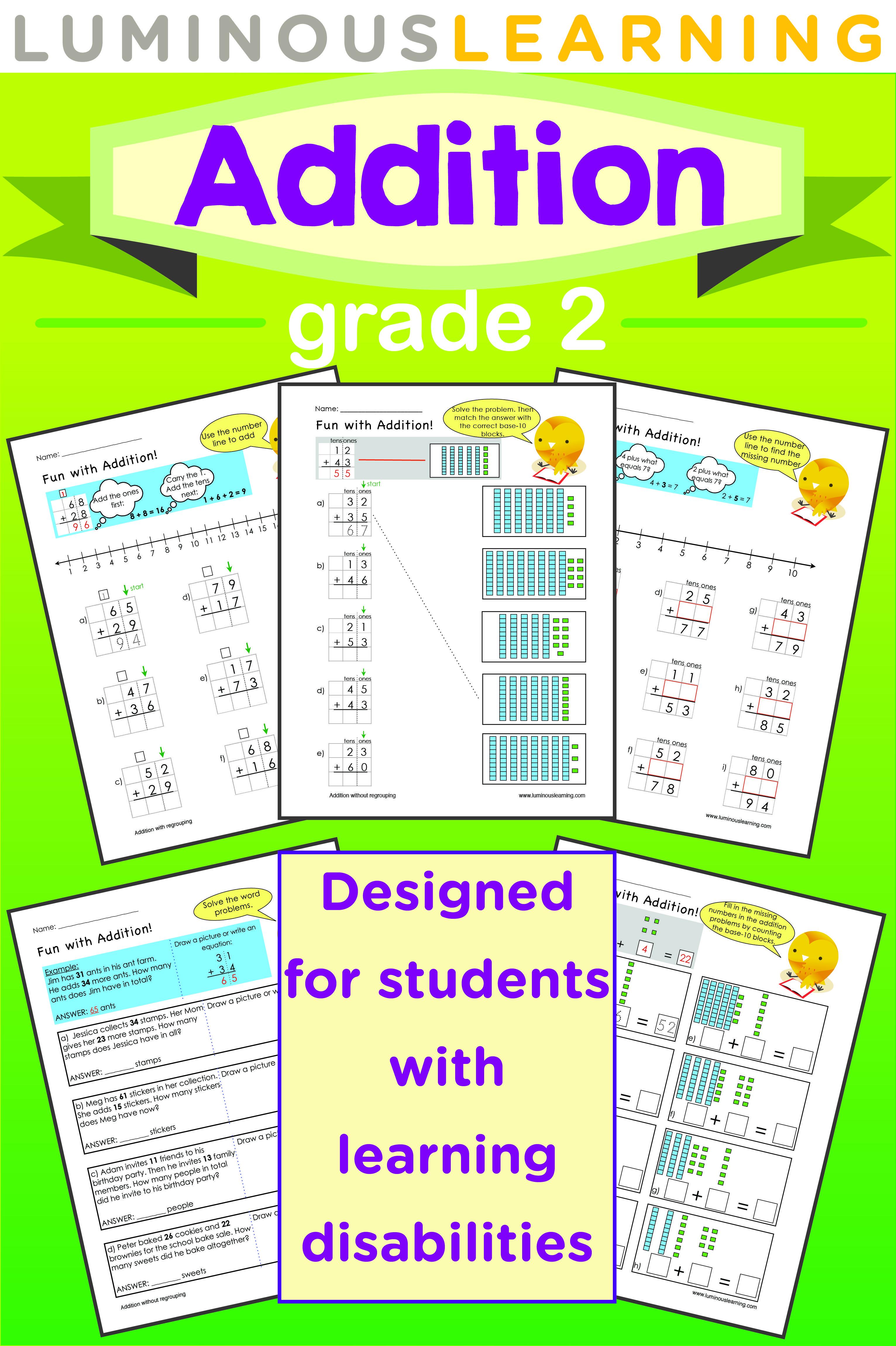 Luminous Learning Grade 2 Addition Workbook Helps
