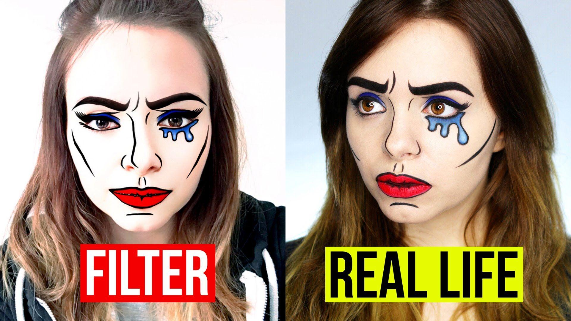 REAL LIFE SNAPCHAT FILTER COMIC GIRL Makeup Tutorial
