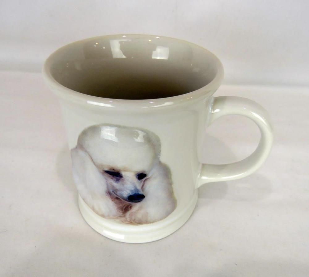 Xpres Best Friends Miniature Poodle Dog Breed Coffee Cup Mug Embossed White Poodle Dog Dog Breeds Mugs