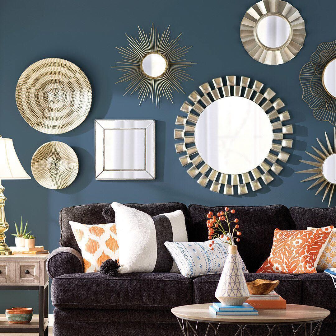 Fantastic Wall Decorating Ideas For Living Rooms To Try: Try This Fresh Take On A Gallery Wall: Replace Traditional