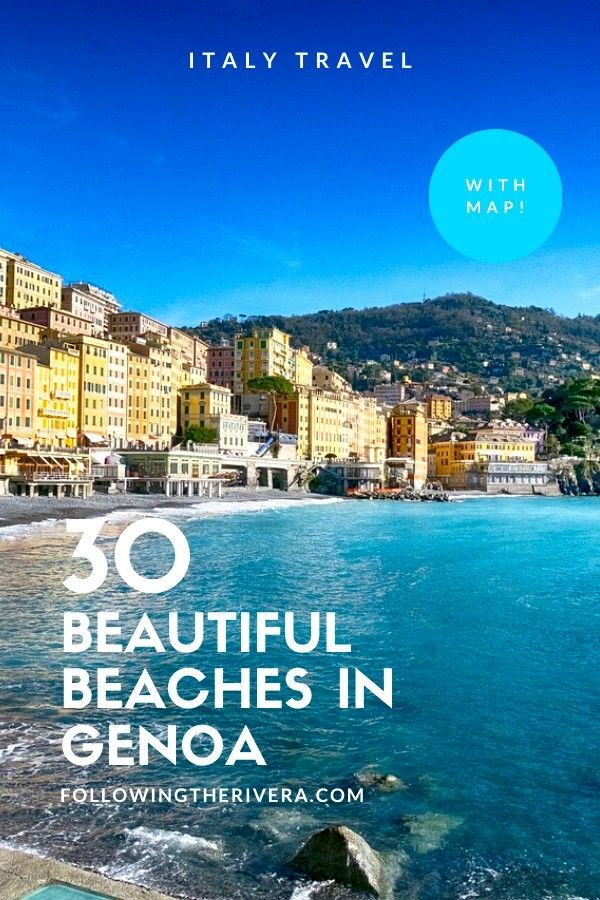 If your inner #beachlover is missing long, lazy days at the beach, raise your spirits with these 30 hot #beach spots along the Italian Riviera in #genoa #italy #travel #genoatravel #italianriviera #italytravel #travelItaly #northitaly #traveltips #traveldestinations #travelideas #smalltownitaly #travelersnotebook #traveladvice #traveladviceandtips #traveltipsforeveryone #traveladdict #travelawesome #travelholic #europetravel #europetraveltips