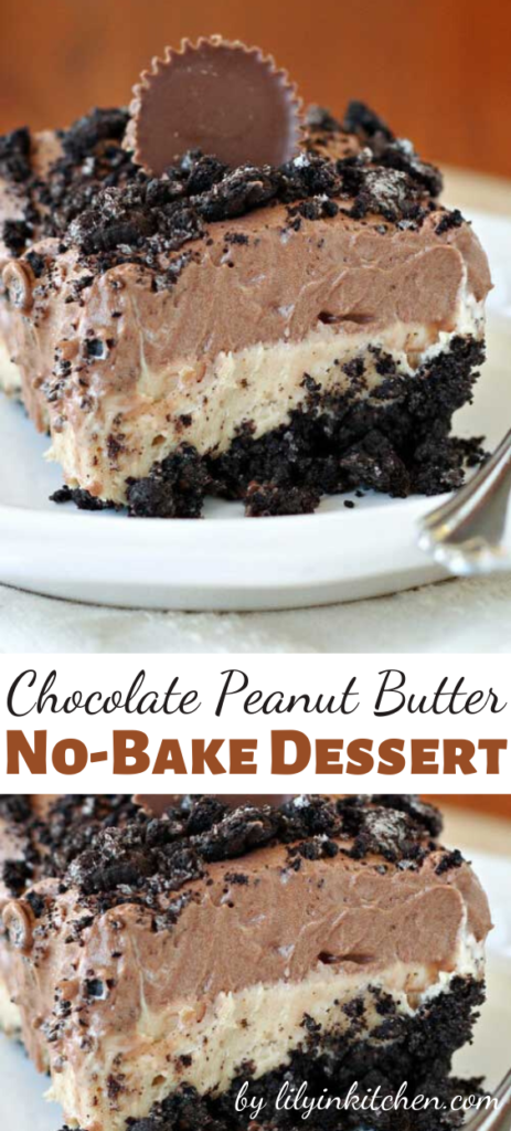 There is nothing quite like a creamy, no-bake layered dessert. Especially when those layers are chocolate and peanut butter, just like this Chocolate Peanut Butter No-Bake Dessert Recipe