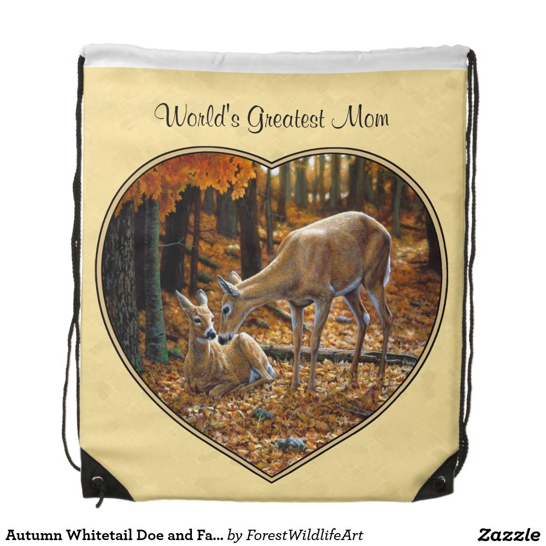 Autumn Whitetail Doe and Fawn Backpacks