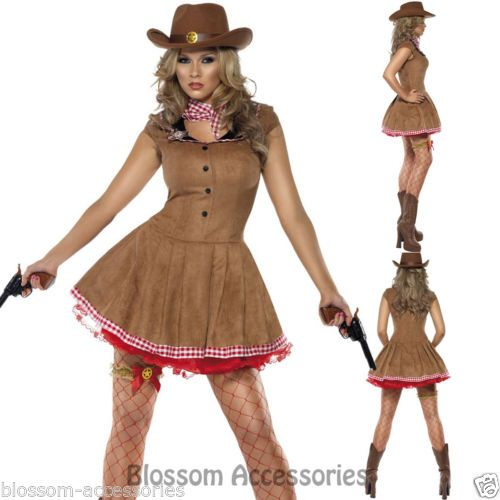 CL409-Fever-Wild-West-Cowgirl-Indian-Rodeo-Western-Fancy-Dress-Cowboy-Costume