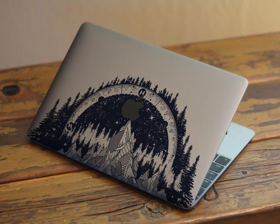 Star Compass Skin Macbook Air 13 Mountains Forest Macbook Pro | Etsy