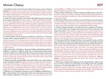 miniver cheevy poem analysis