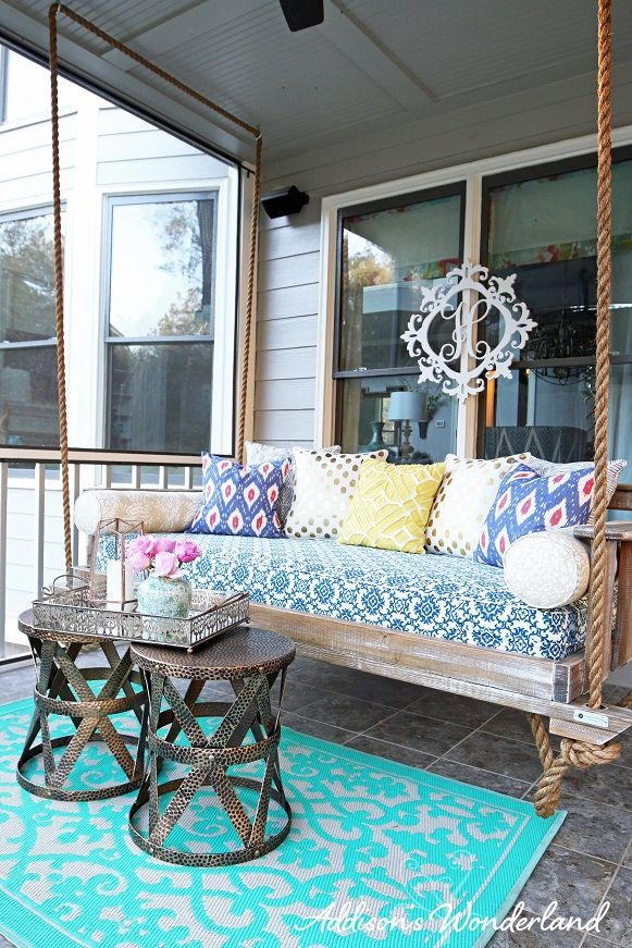 Our New Outdoor Porch Swing Home Ideas Pinterest Porch