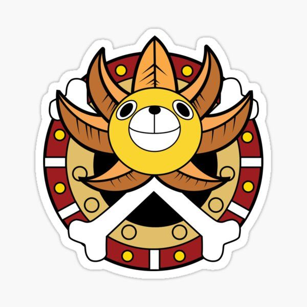 One Piece Sunny Thousand Logo Sticker by Robin-
