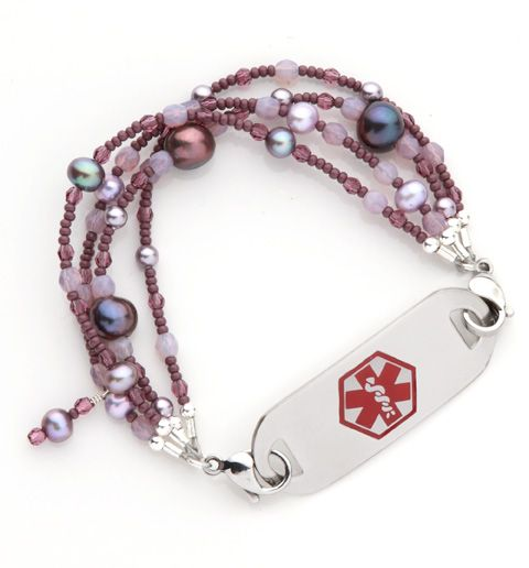 Lilac Champagne Medical Id Bracelet From Lauren S Hope Laurenshope Medicalid Laurenshopeid Medical Alert Jewelry Alert Bracelet Medic Alert Bracelets