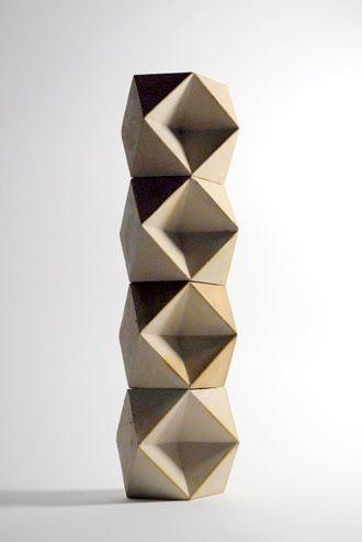 Richard Sweeny Geometric Sculpture Ceramic Sculpture Ceramic Art