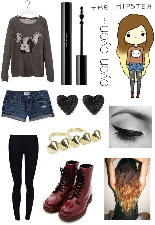 "Hipster Girl Outfits Polyvore ""pyon pyons commo..."