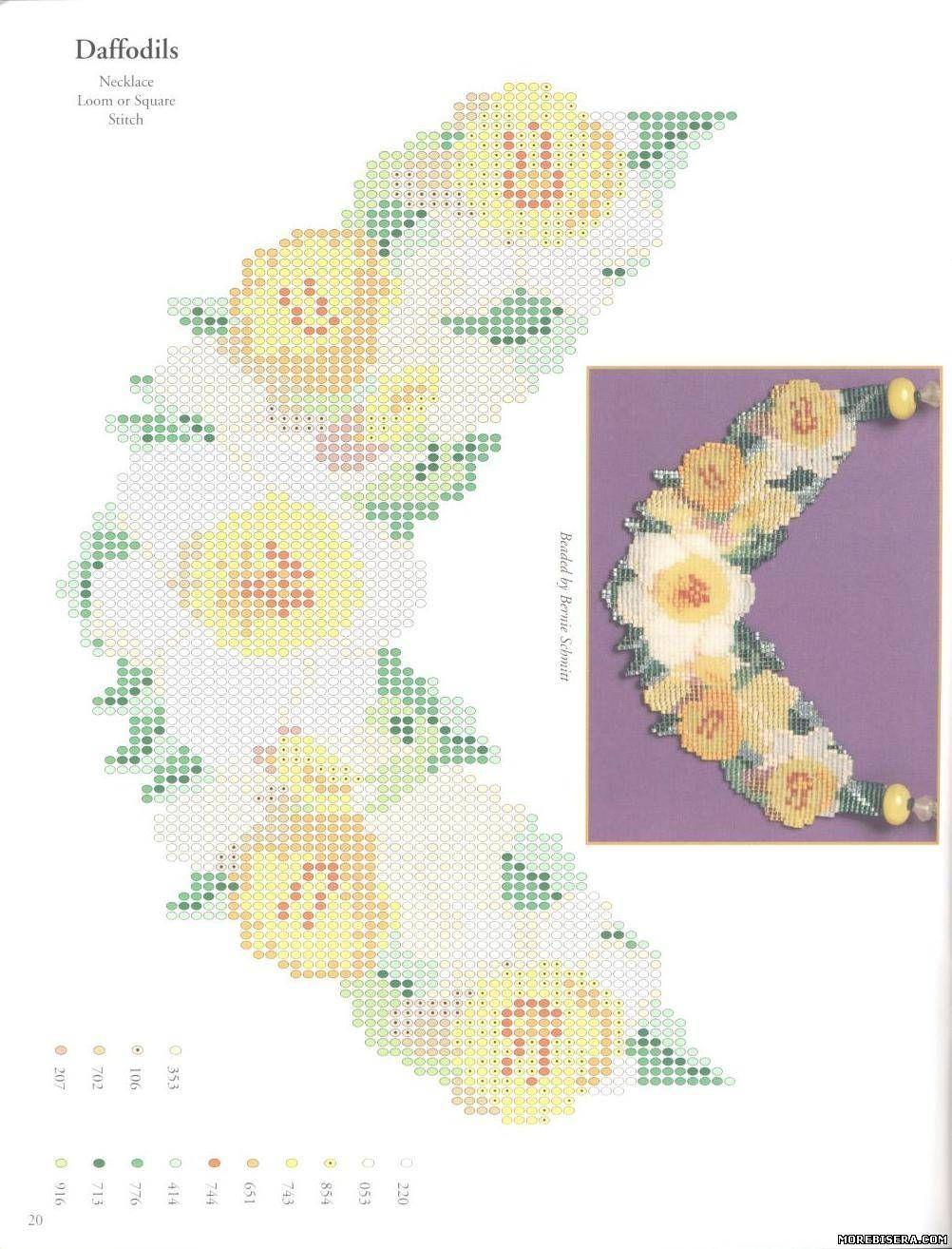 Схемы цветов для мозаичного плетения бисером