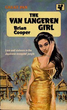 The Van Langeren Girl by  Brian Cooper. Vintage Pan paperback book cover.