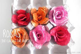 Nuestro Mundo Creativo: Rosas Hechas con Cajas de Huevo