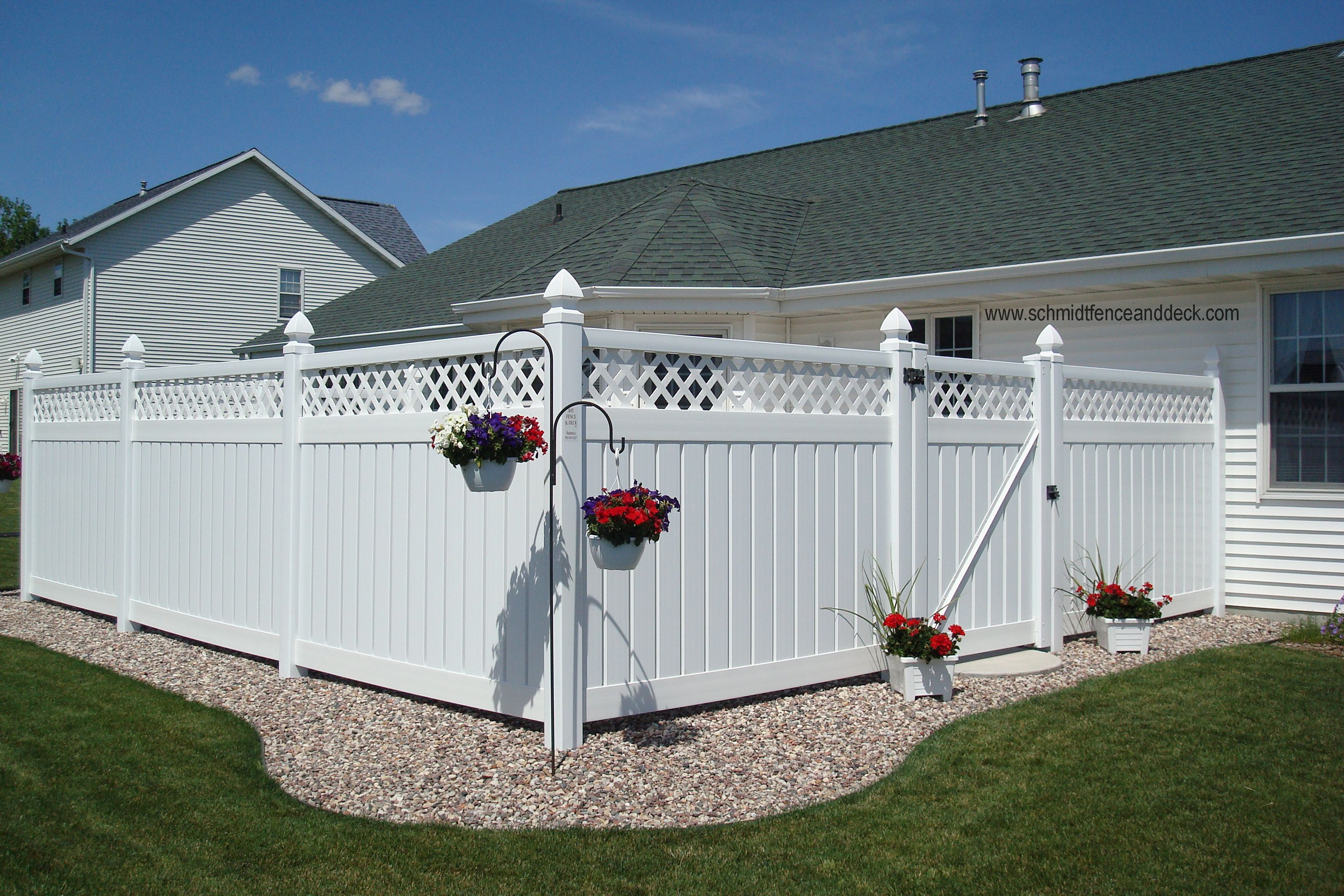 White Privacy Fence Ideas And Screen Fencing Outdoor Patio