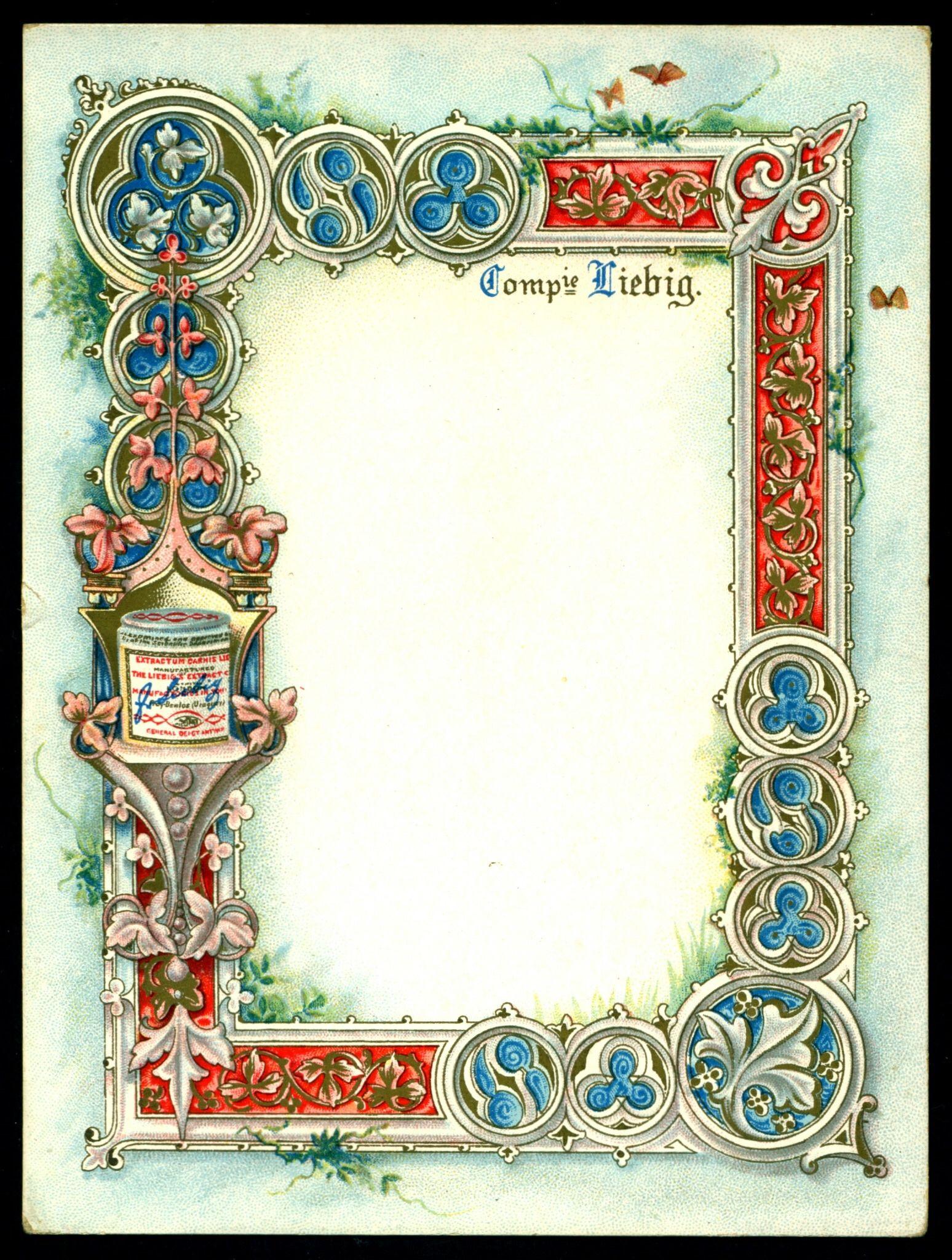 Liebig Tradecard - Ornate Framework Table Card 2 | Frames and ...