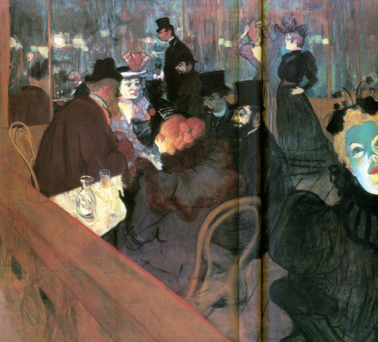 Toulouse-Lautrec 1892 Au Moulin-Rouge #France #Paris @deFharo