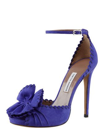 Ruby Scalloped Ankle-Strap Pump by Tabitha Simmons.