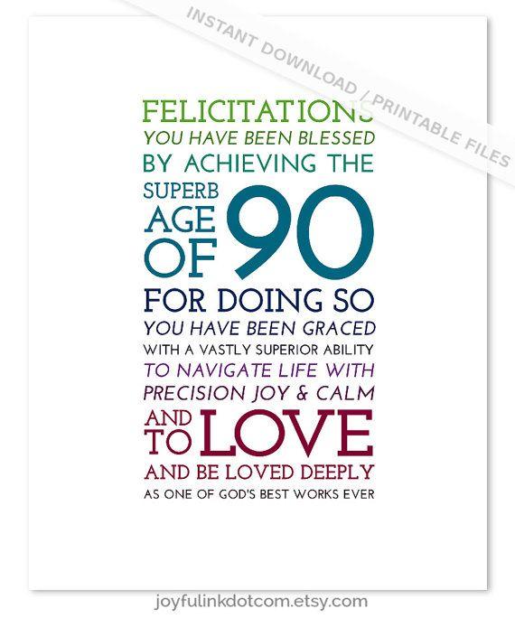 90th Birthday PRINTABLE Christian 1925 By Joyfulinkdotcom On Etsy
