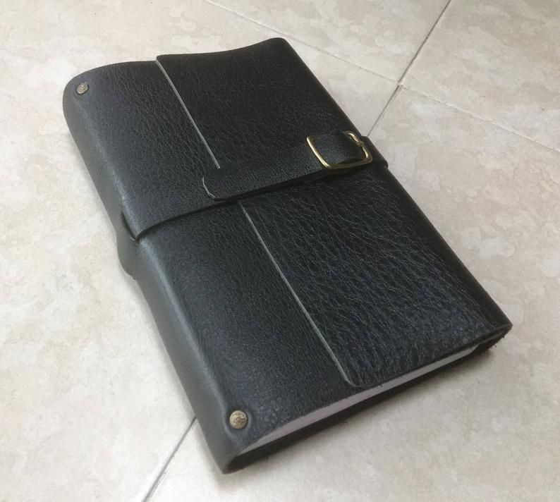 A Simple Sturdy Leather Journal Or Diary With Lined Pages