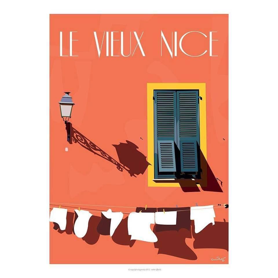Nice le vieux nice affiche minimaliste vador et slip for Affiche minimaliste