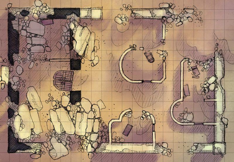 Desert Ruins In 2019 Dungeon Maps Desert Map Fantasy Map