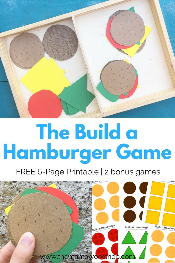 We Are Playing Build A Hamburger To Learn The Letter H Play This With Your Toddler To Also Learn Patterns And Practice Motor Skills It Is A Free 6 Page Printa