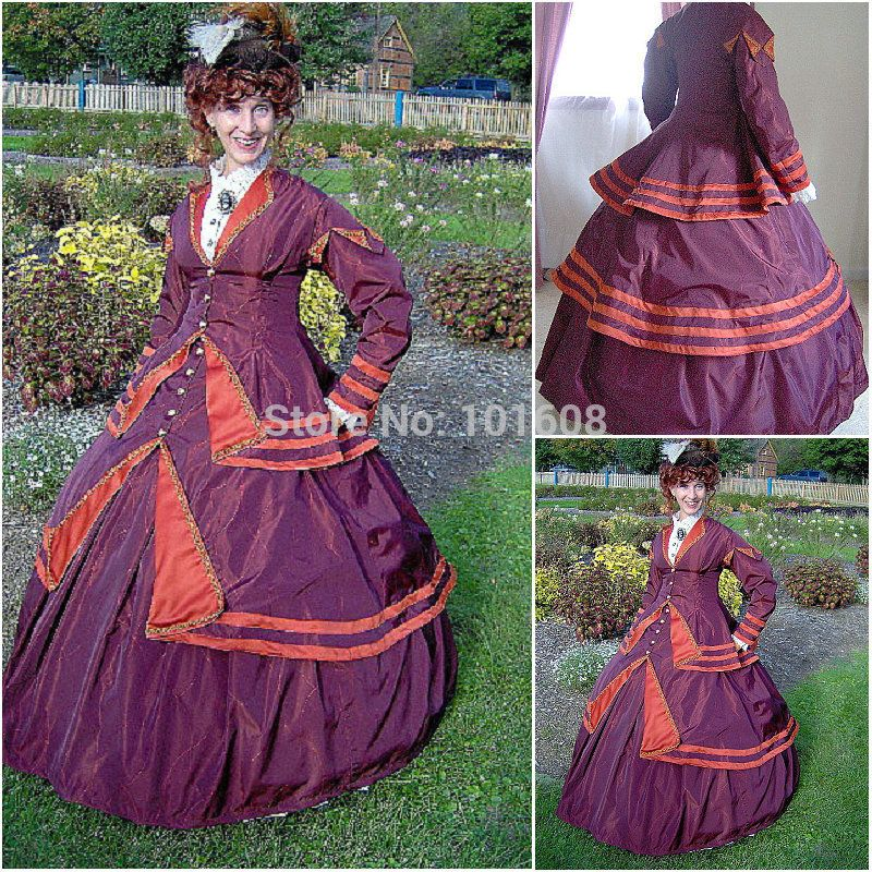 >> Click to Buy << 1860S Victorian Corset Gothic/Civil War Southern Belle Ball Gown Dress Halloween dresses  CUSTOM MADE R-143 #Affiliate