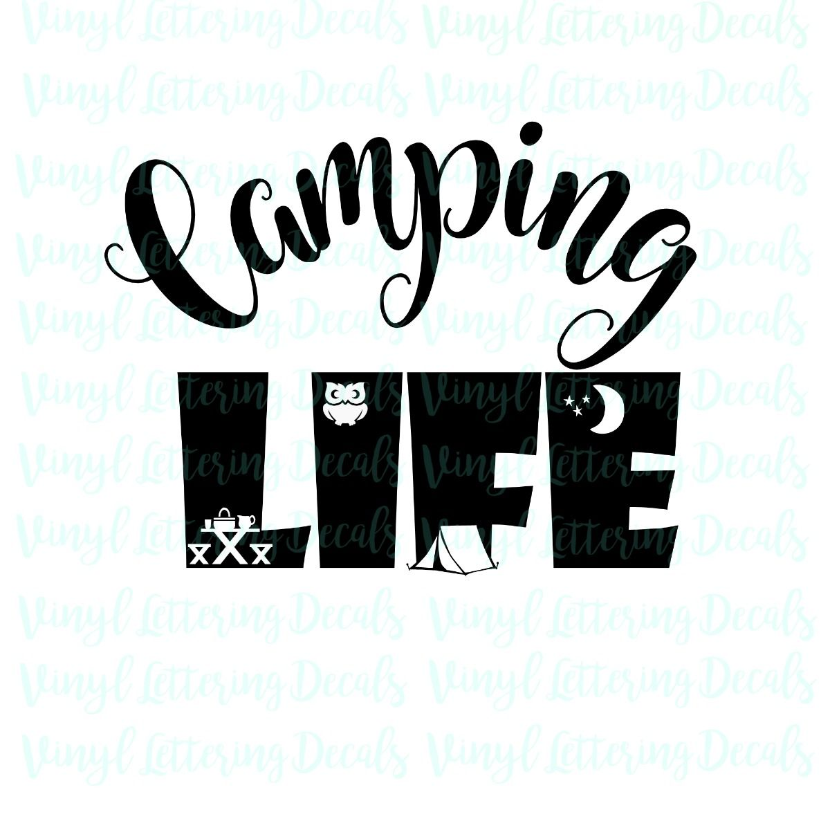 Camping life, SVG file, Cricut file, Cameo file