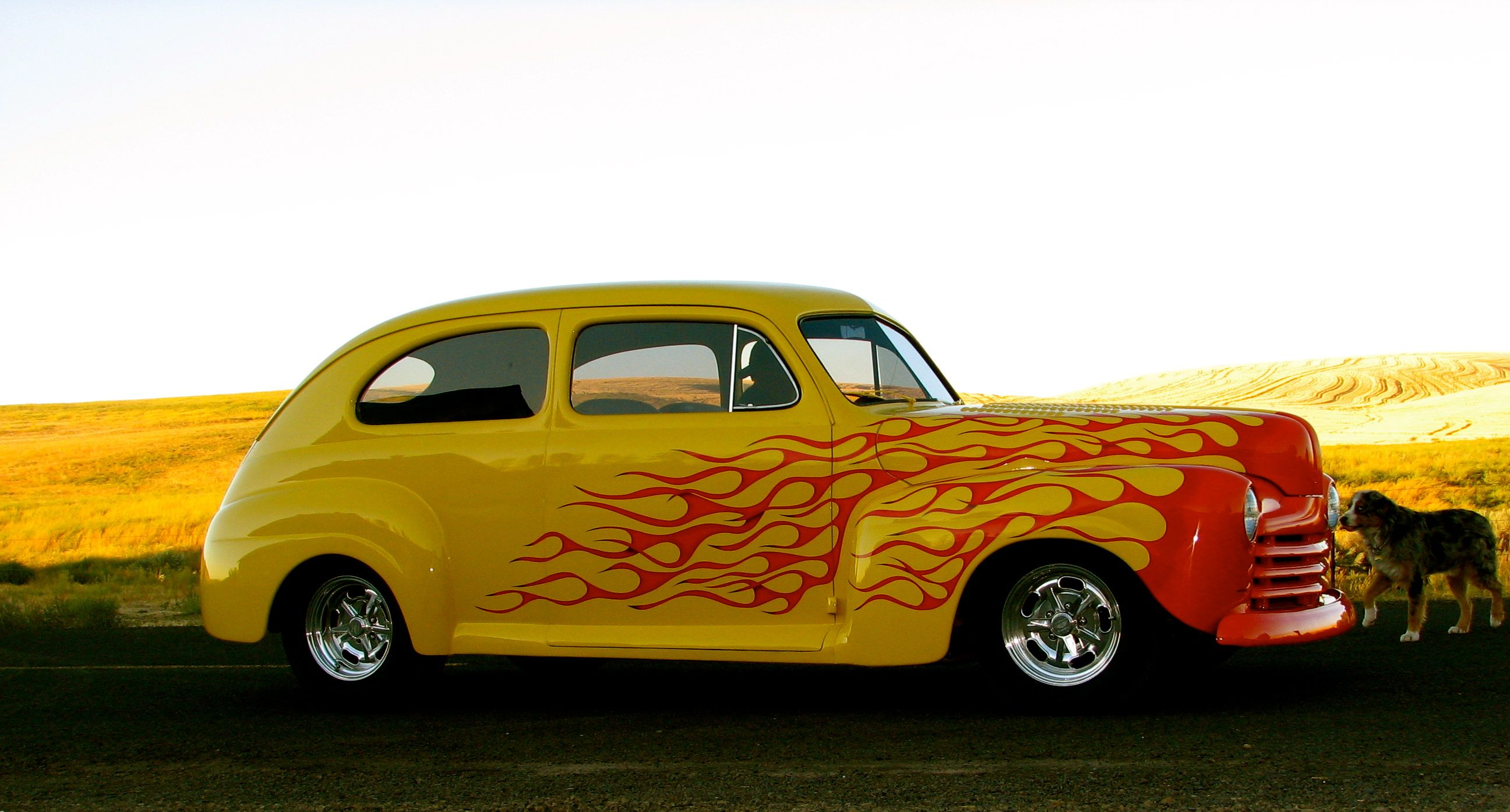 Old School Flames Hot Rod | The Secret Lab Of Hot Rods | Hot Rod ...