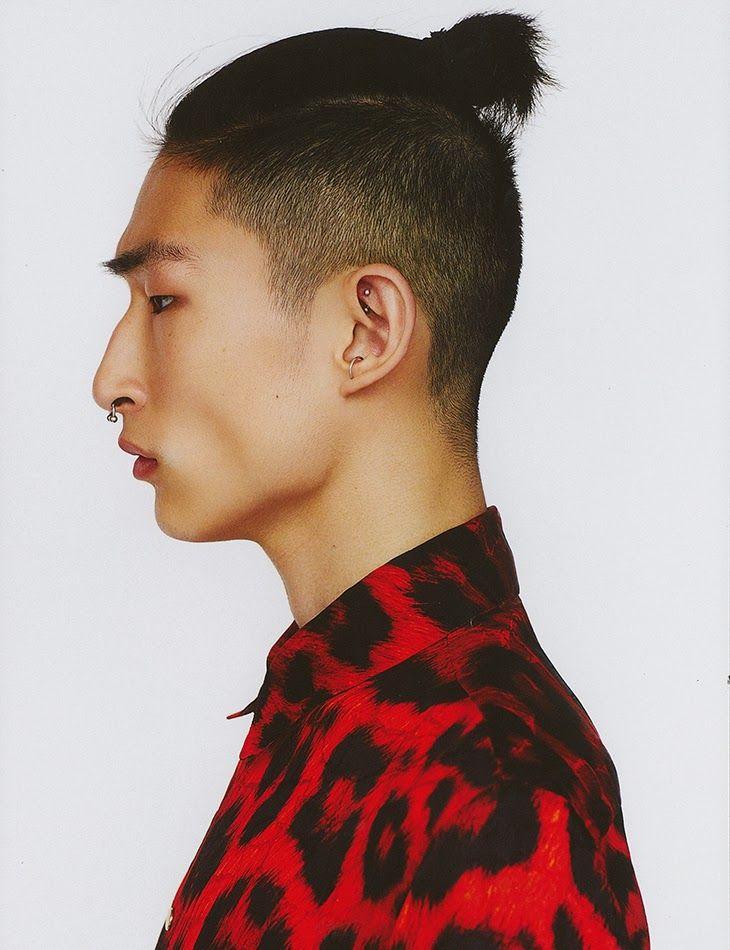 Man Bun Hairstyle Fade For Short Hair