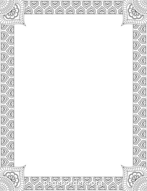 Henna Border Make Recipe Cards Pinterest Hennas Template And